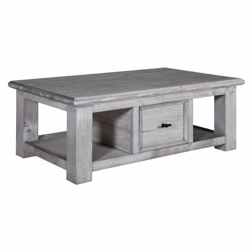 "Table de salon 2 tiroirs ""Oslo"" - table basse"