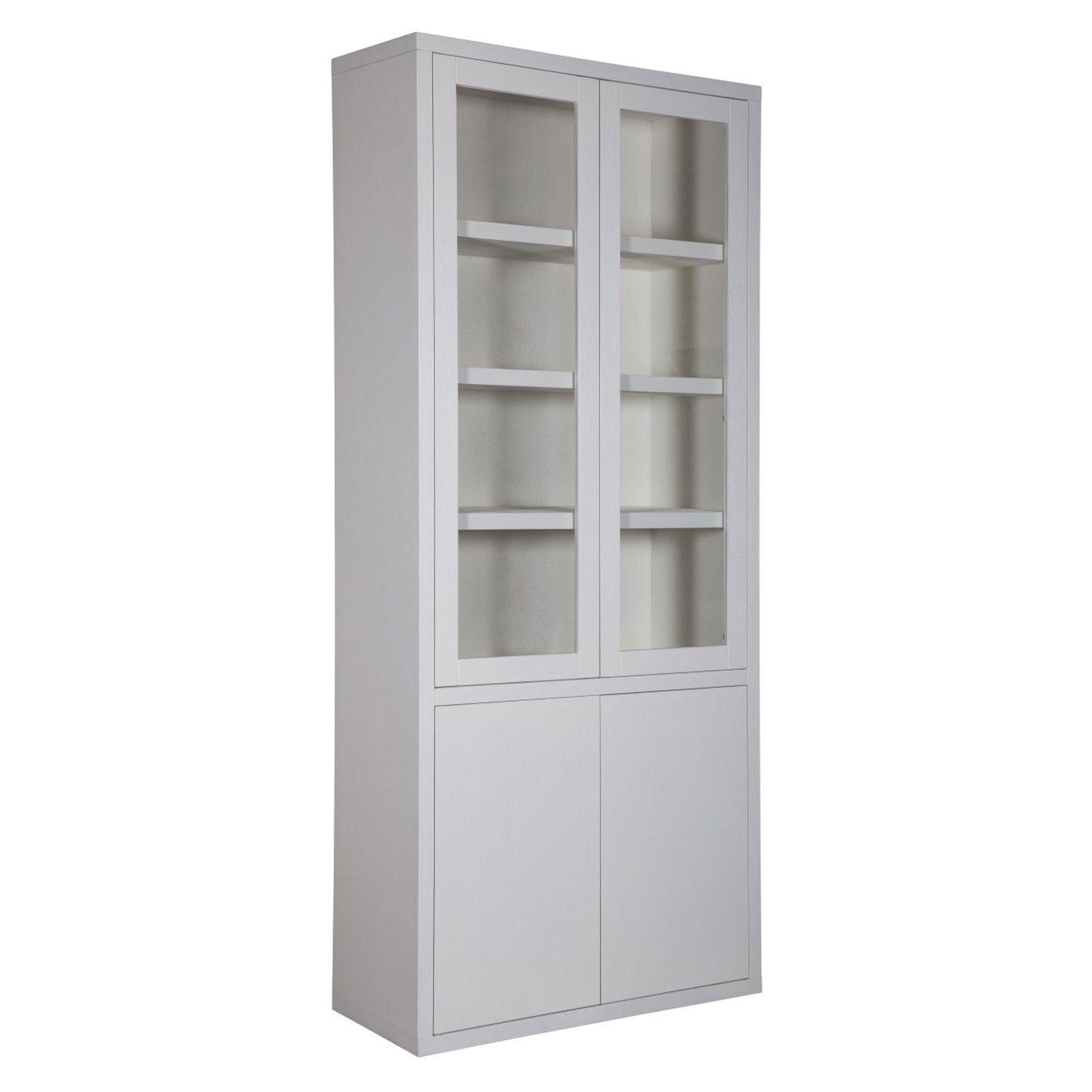 """Vitrine 2x2 portes """"Chêne Moderne"""" - vitrine moderne"""