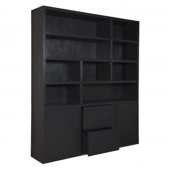 Bibliothèque 2 portes 2 tiroirs rangements
