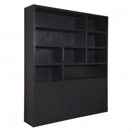 "Bibliothèque 2 portes 2 tiroirs ""Chêne Moderne"""