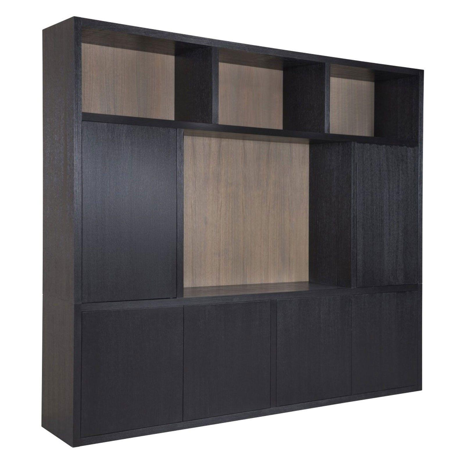 """Meuble TV 5 portes """"Chêne Moderne"""" grand meuble tv"""