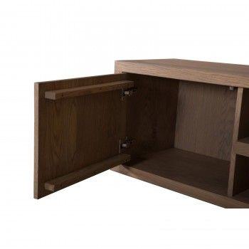 """Meuble TV 2 portes """"Chêne Moderne"""" - meuble tv luxe"""