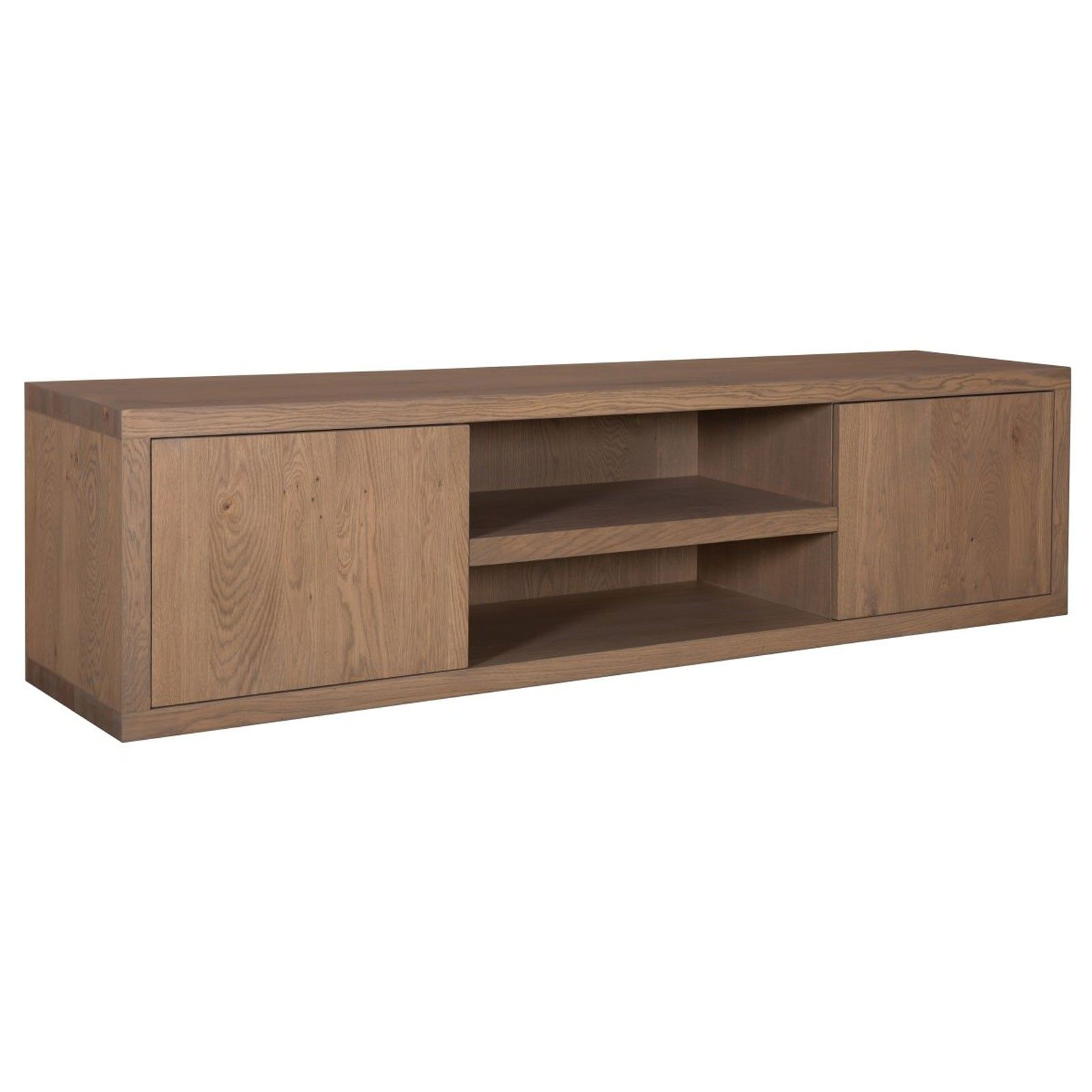 "Meuble TV 2 portes ""Chêne Moderne"" - achat meuble tv"
