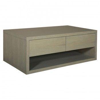 "Table de salon 2 tiroirs ""Chêne Moderne"" - table basse"