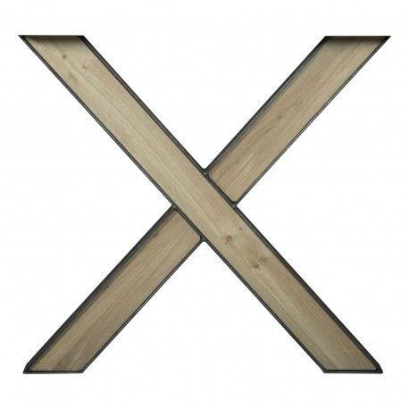 Pieds X avec chêne