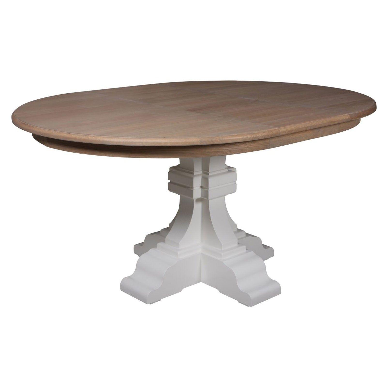 Table à dîner ronde avec 1 allonge - chic