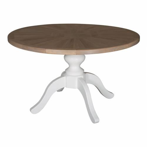 """Table à dîner ronde """"Mosaique"""" charme"""