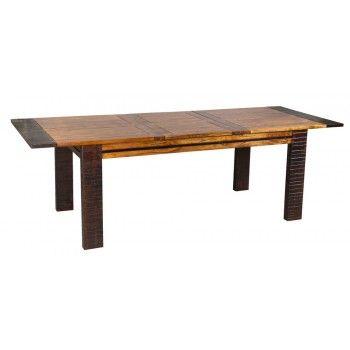 Table de repas rectangulaire ethnique chic Moon en acacia massif 180cm