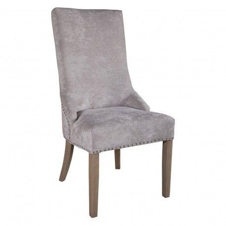 """Chaise avec boutons argentés """"Ellen"""""""