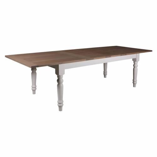 """Table de repas avec rallonges 240 """"Chêne et Pin Romance"""""""