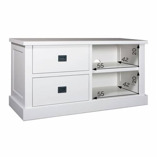 """Meuble TV 2 tiroirs """"Pin Chic"""" - achat meuble tv chic"""