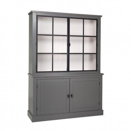 Buffet Vaisselier vitré Knox 2x2-portes