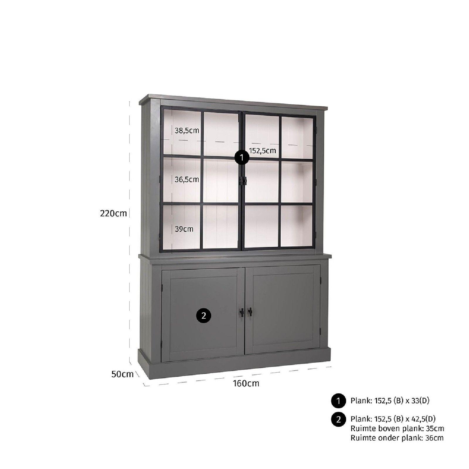 Buffet Vaisselier vitré Knox 2x2-portes Vaisseliers - 24