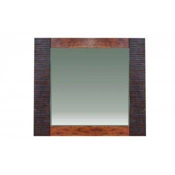 Miroir ethnique chic Moon en acacia massif bicolore