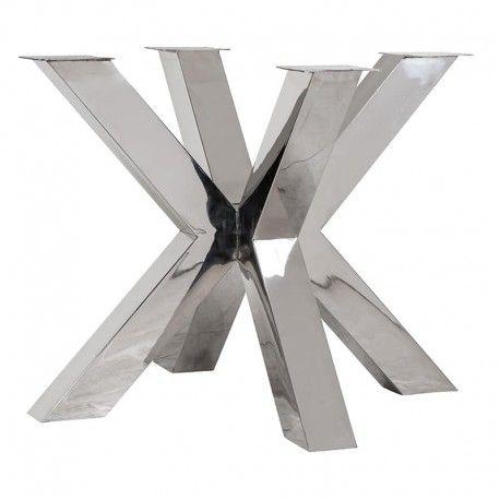 Pieds de table cross Bodhi argentés