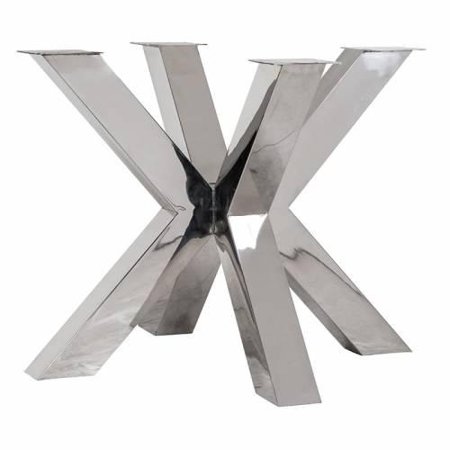 Pieds de table cross Bodhi argentés Meuble Déco Tendance - 6