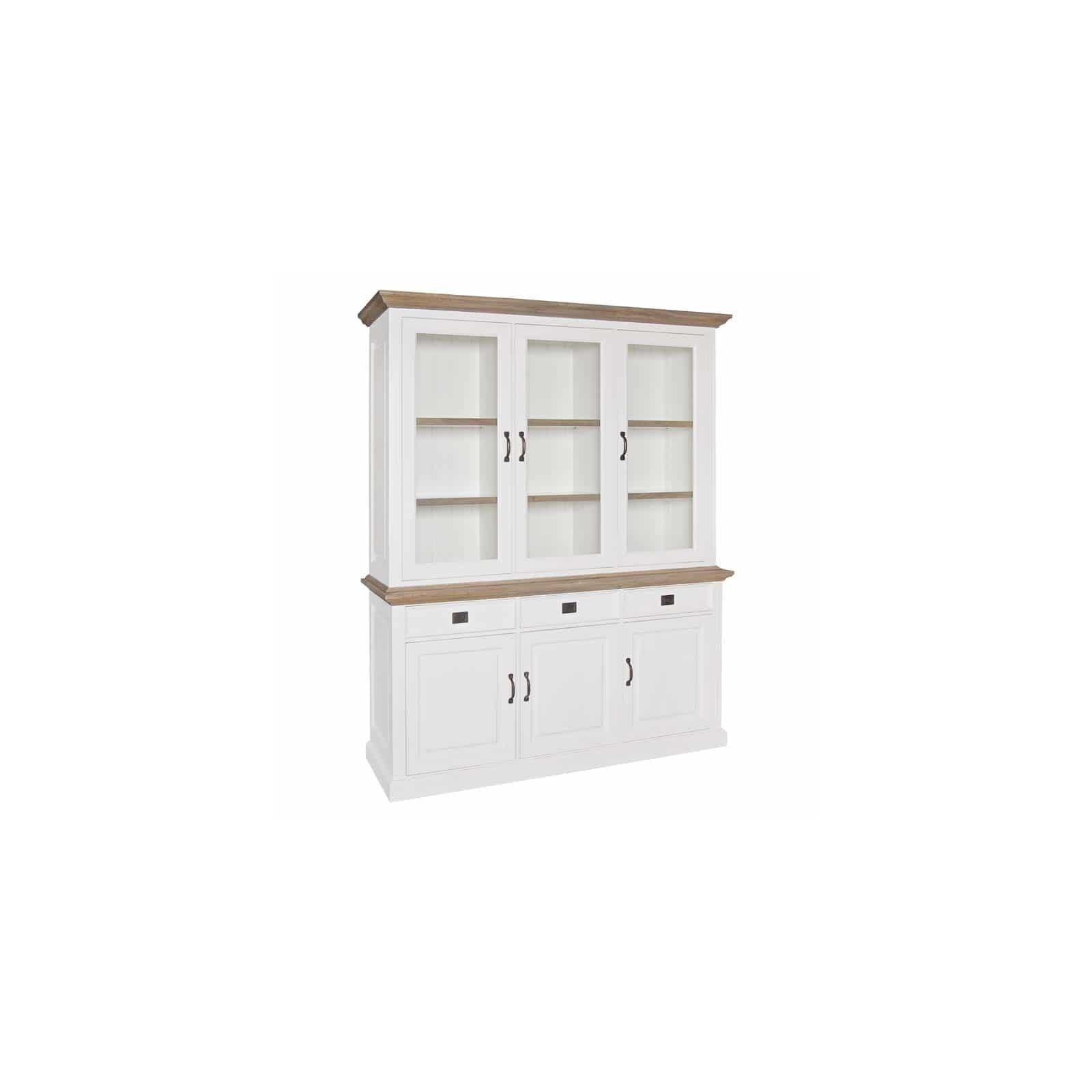 Buffet Vaisselier vitré Oakdale 2x3-portes 3-tiroirs Vaisseliers - 19