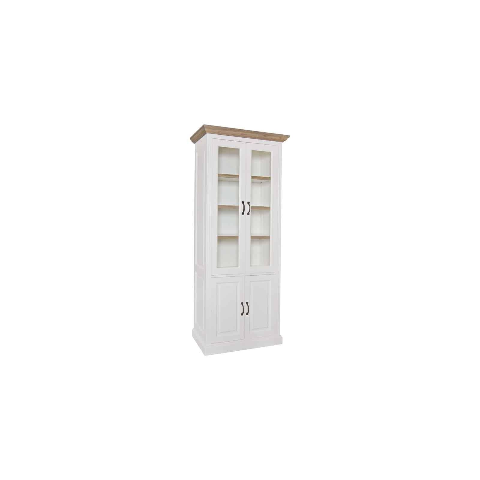 Vitrine Oakdale 2x2-portes 3-étagères Meuble Déco Tendance - 27