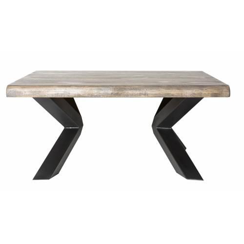 Table basse carrée New York en bois manguier massif