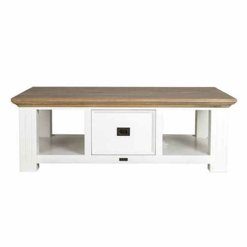 """Table basse 2 tiroirs """"Chêne et Pin Oakdale"""" Tables basses rectangulaires - 3"""