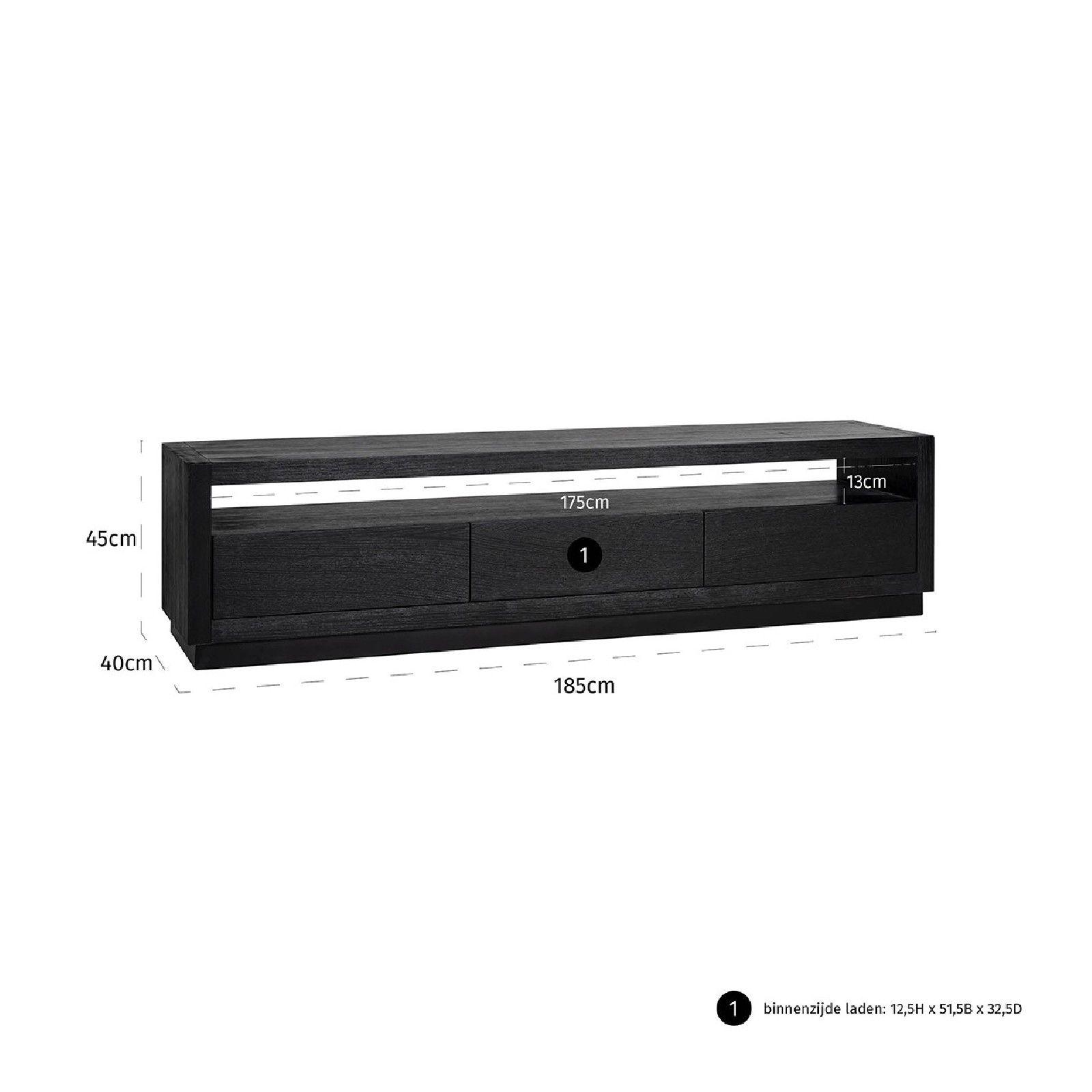 Meuble TV Oakura 3-tiroirs Meuble Déco Tendance - 715
