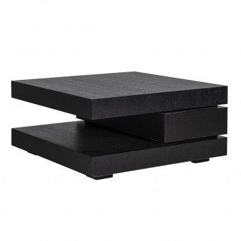 """Table basse carrée noir Blok C """"Chêne Oakura"""" Tables basses carrées - 2"""
