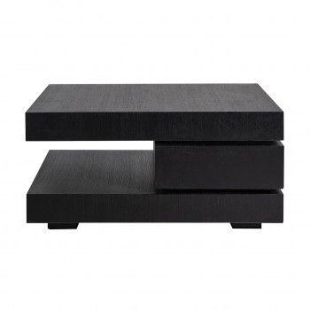 """Table basse carrée noir Blok C """"Chêne Oakura"""" Tables basses carrées - 9"""