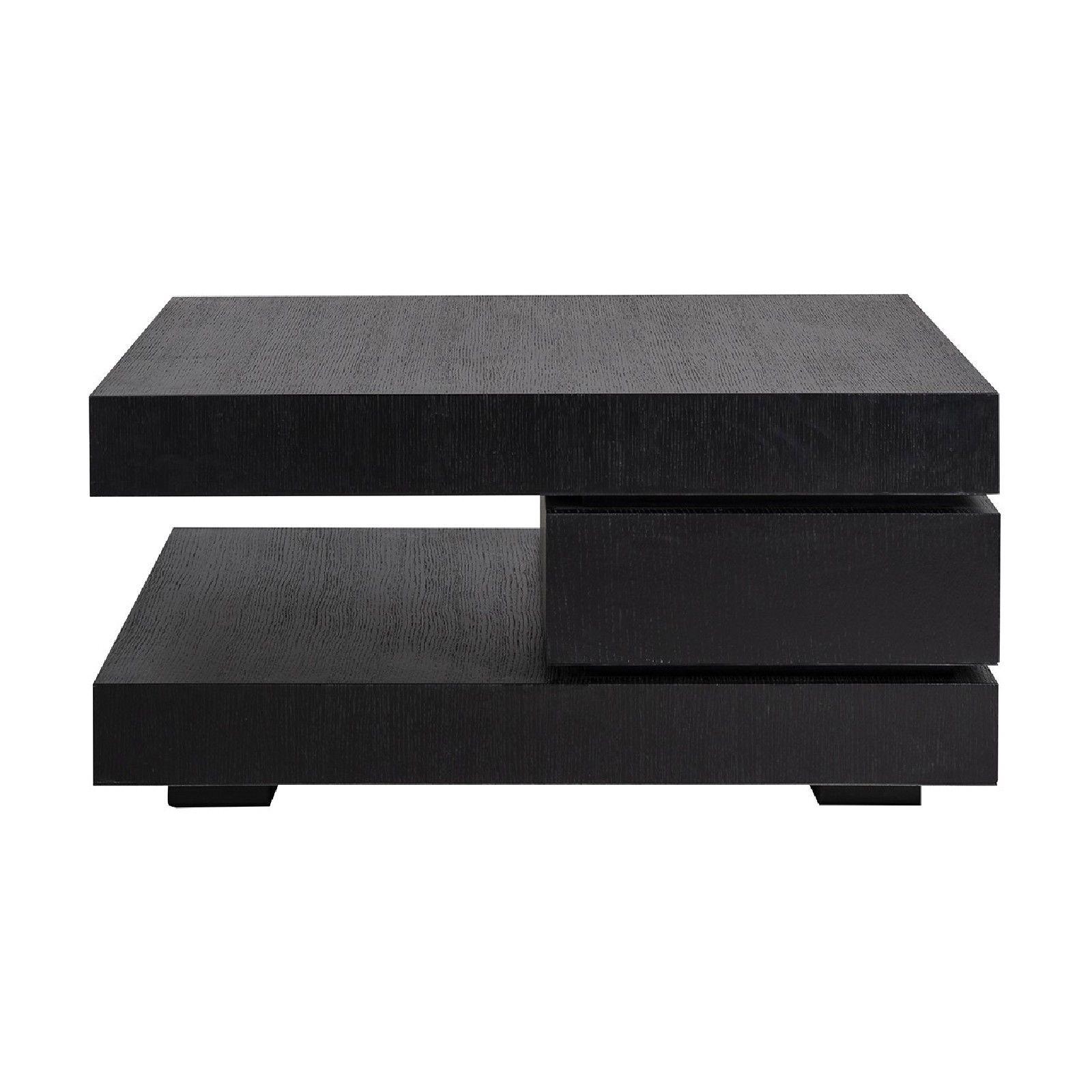 Table basse carrée noir Blok C