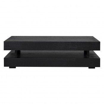 "Table basse rectangulaire noir Blok H ""Chêne Oakura"" Tables basses rectangulaires - 137"