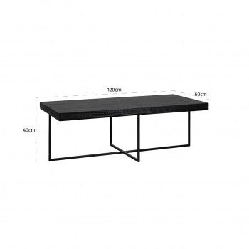 "Table basse rectangulaire minimaliste 120x60 ""Chêne Oakura"" Tables basses rectangulaires - 159"