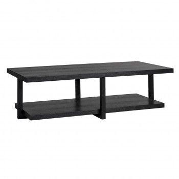 "Table basse rectangulaire double plateau 140x65 ""Chêne Oakura"" Tables basses rectangulaires - 56"