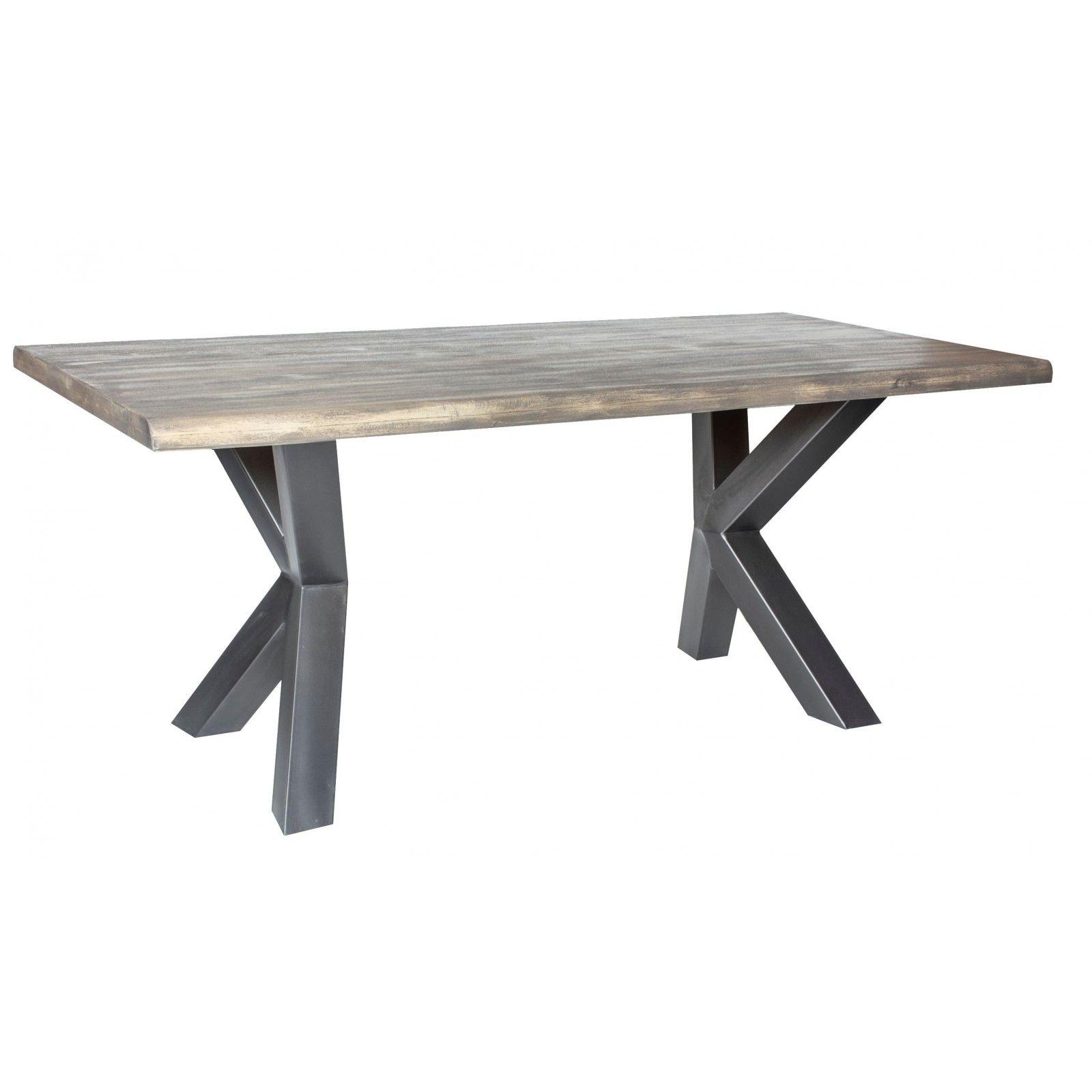 Table de repas New York en manguier massif et métal