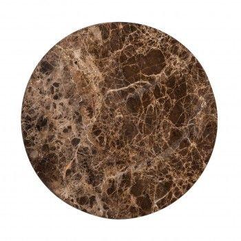 Table d'angle Dalton brown emperador set de 2 Meuble Déco Tendance - 823
