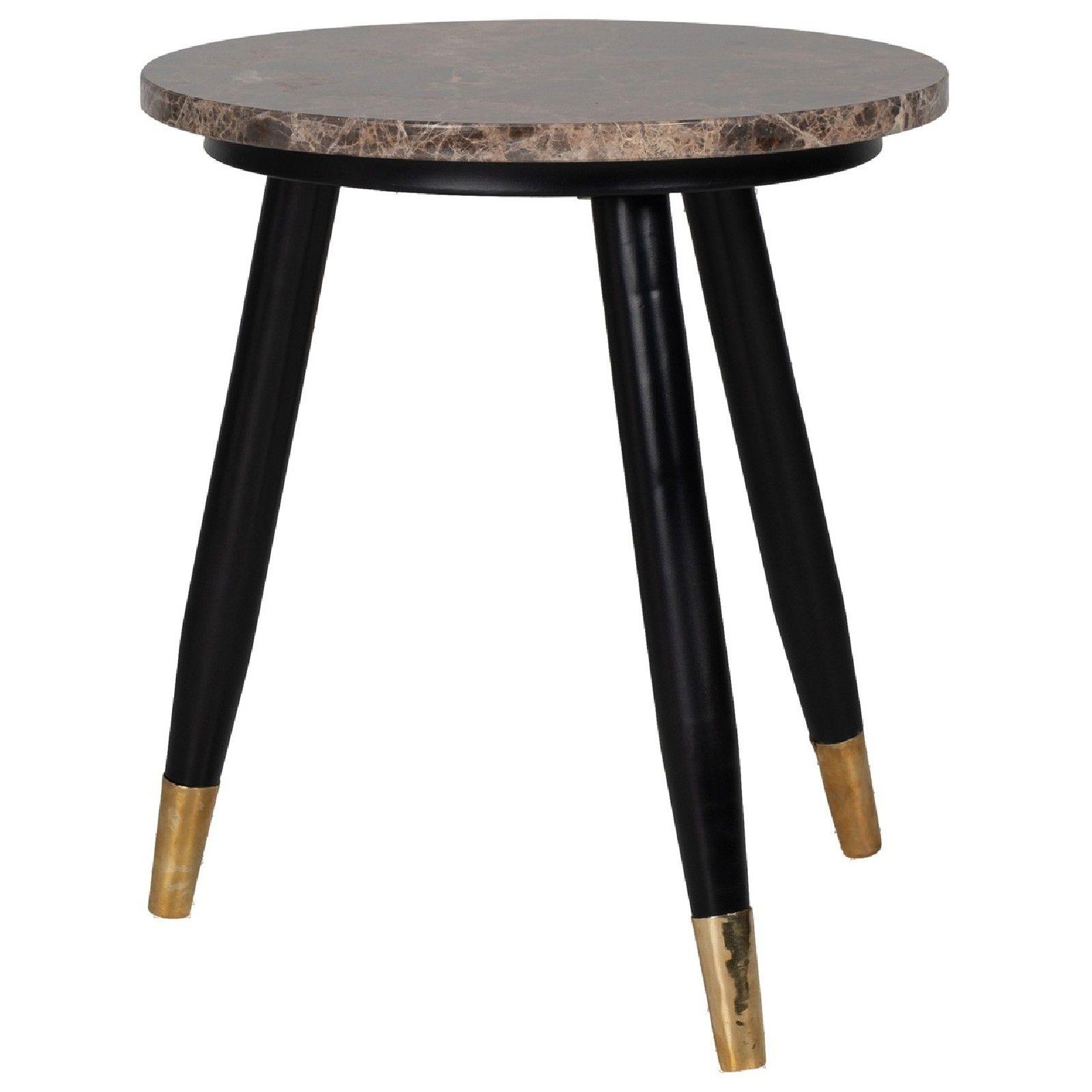 Table d'angle Dalton brown emperador rond 40Ø Meuble Déco Tendance - 736