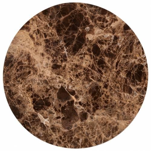Table d'angle Dalton brown emperador rond 40Ø Meuble Déco Tendance - 841