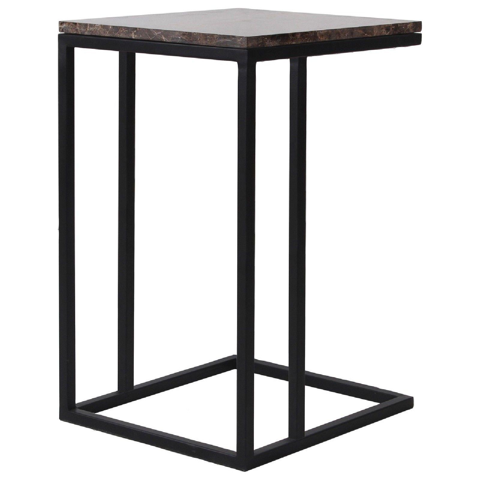 Table d'appoint Dalton brown emperador Meuble Déco Tendance - 27