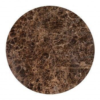 "Table basse ronde 90Ø - Fer et marbre brun empereur ""Dalton"" Tables basses rondes - 826"