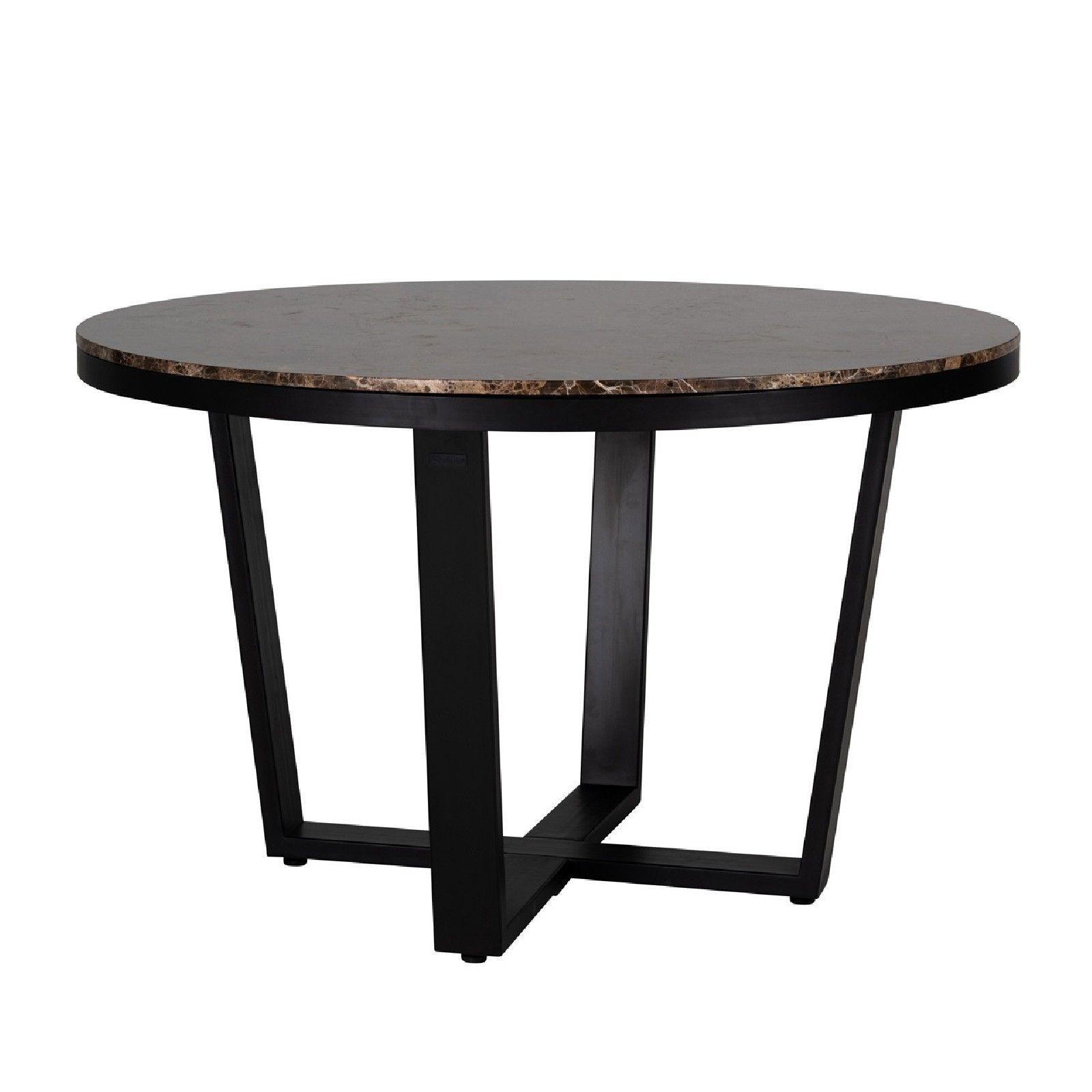 Table à dîner Dalton brown emperador rond 130Ø Meuble Déco Tendance - 588