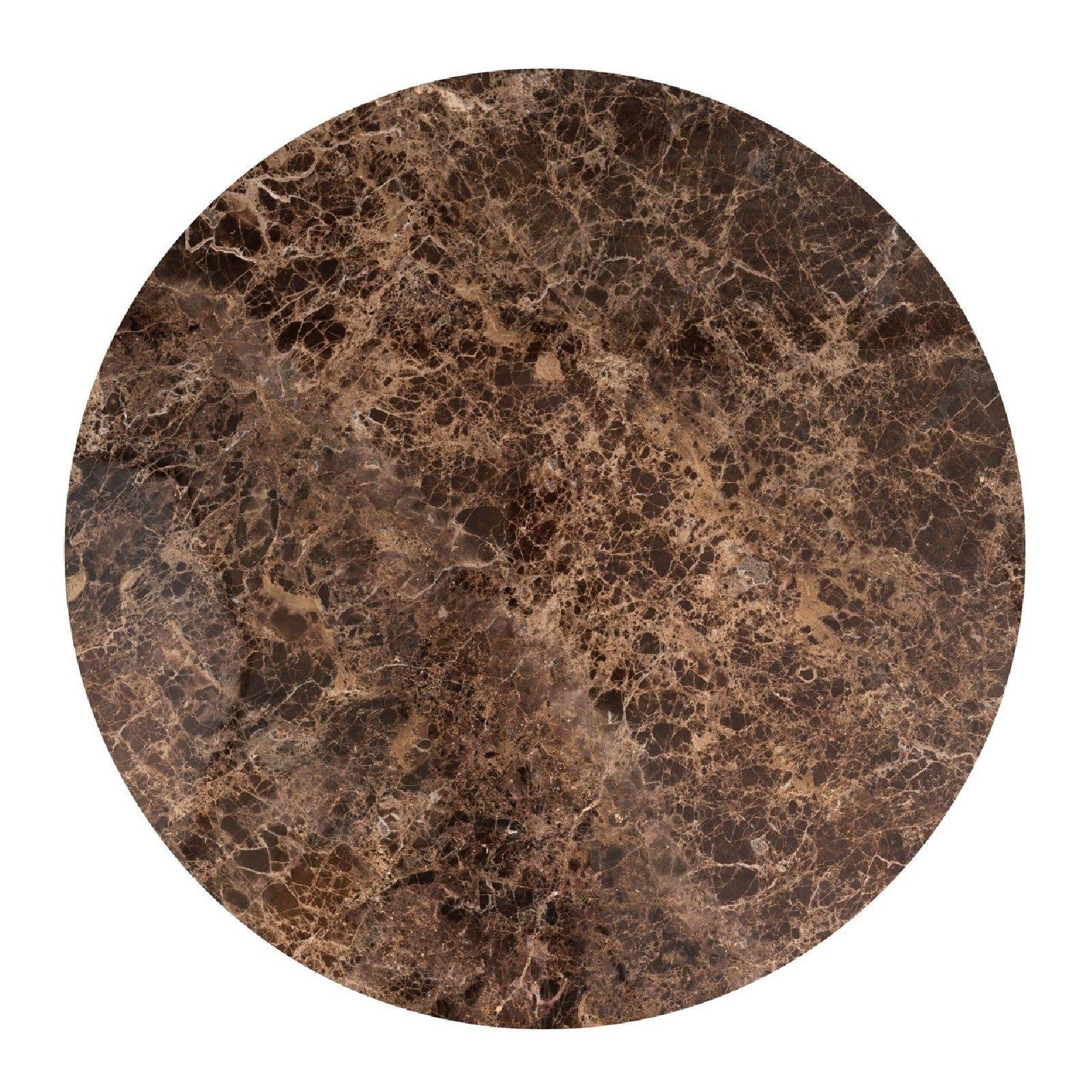 Table à dîner Dalton brown emperador rond 130Ø Meuble Déco Tendance - 838