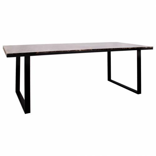 Table à dîner Dalton brown emperador 230x94 Meuble Déco Tendance - 818