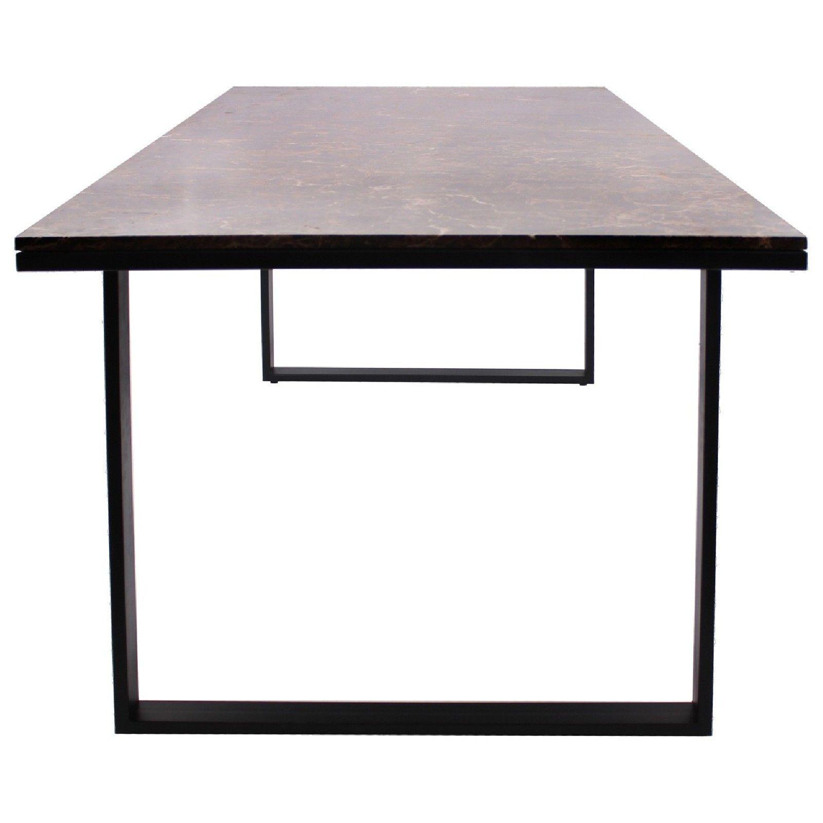 Table à dîner Dalton brown emperador 230x94 Meuble Déco Tendance - 828