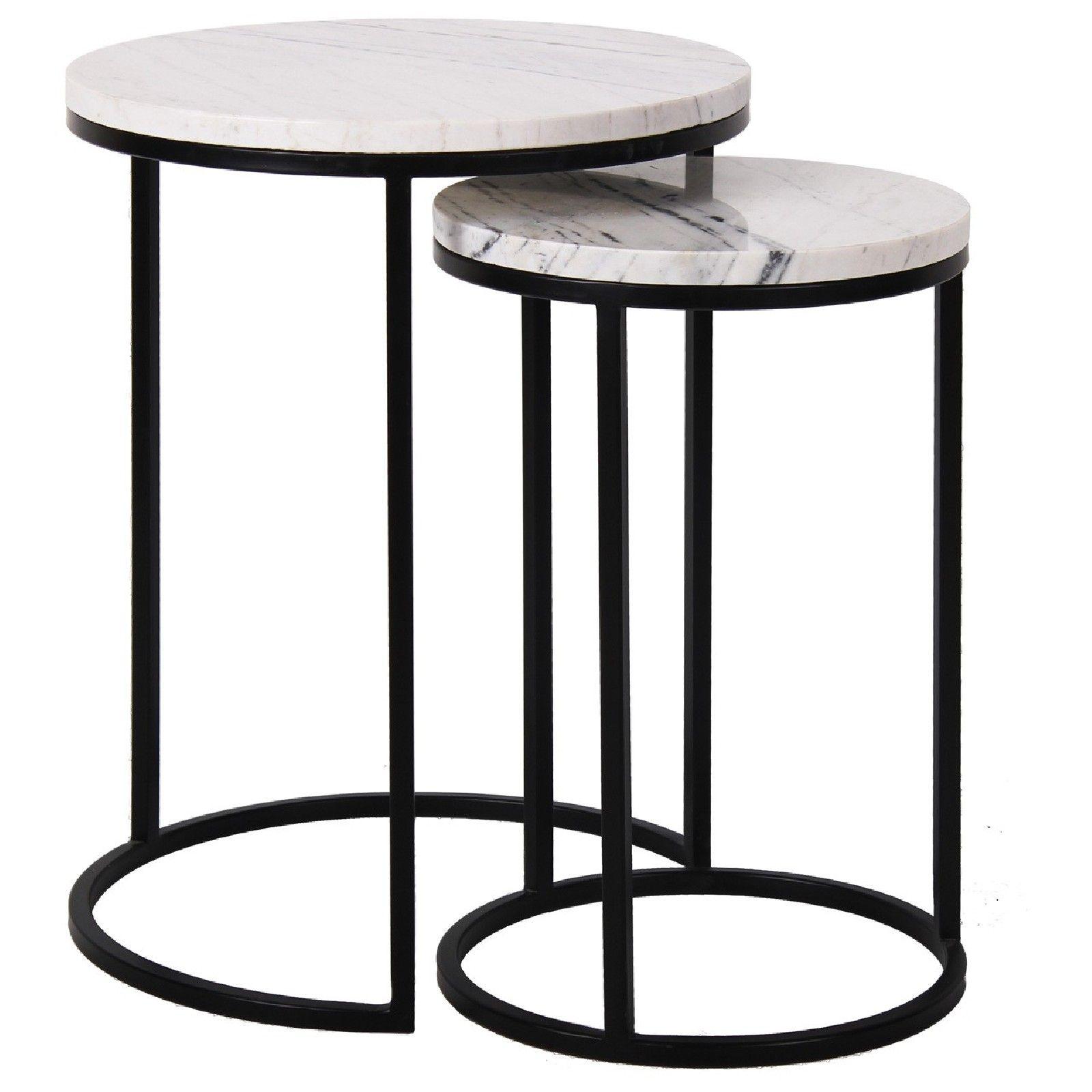 Table d'angle Lexington white set de 2 Meuble Déco Tendance - 169