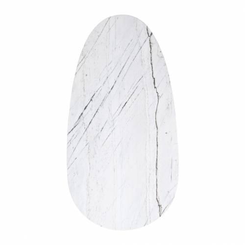 """Table basse ovale - Métal et marbre blanc """"Lexington"""" Tables basses rectangulaires - 129"""
