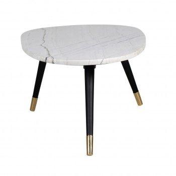 """Table basse ovale - Métal et marbre blanc """"Lexington"""" Tables basses rectangulaires - 149"""