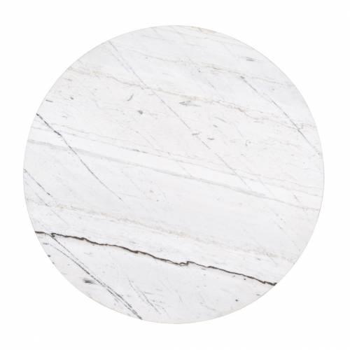 """Table basse ronde - 2 plateaux rotatifs - Fer et marbre blanc """"Lexington"""" Tables basses rondes - 97"""