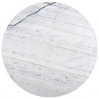 """Table basse ronde 90Ø - Fer et marbre blanc """"Lexington"""" Tables basses rectangulaires - 94"""