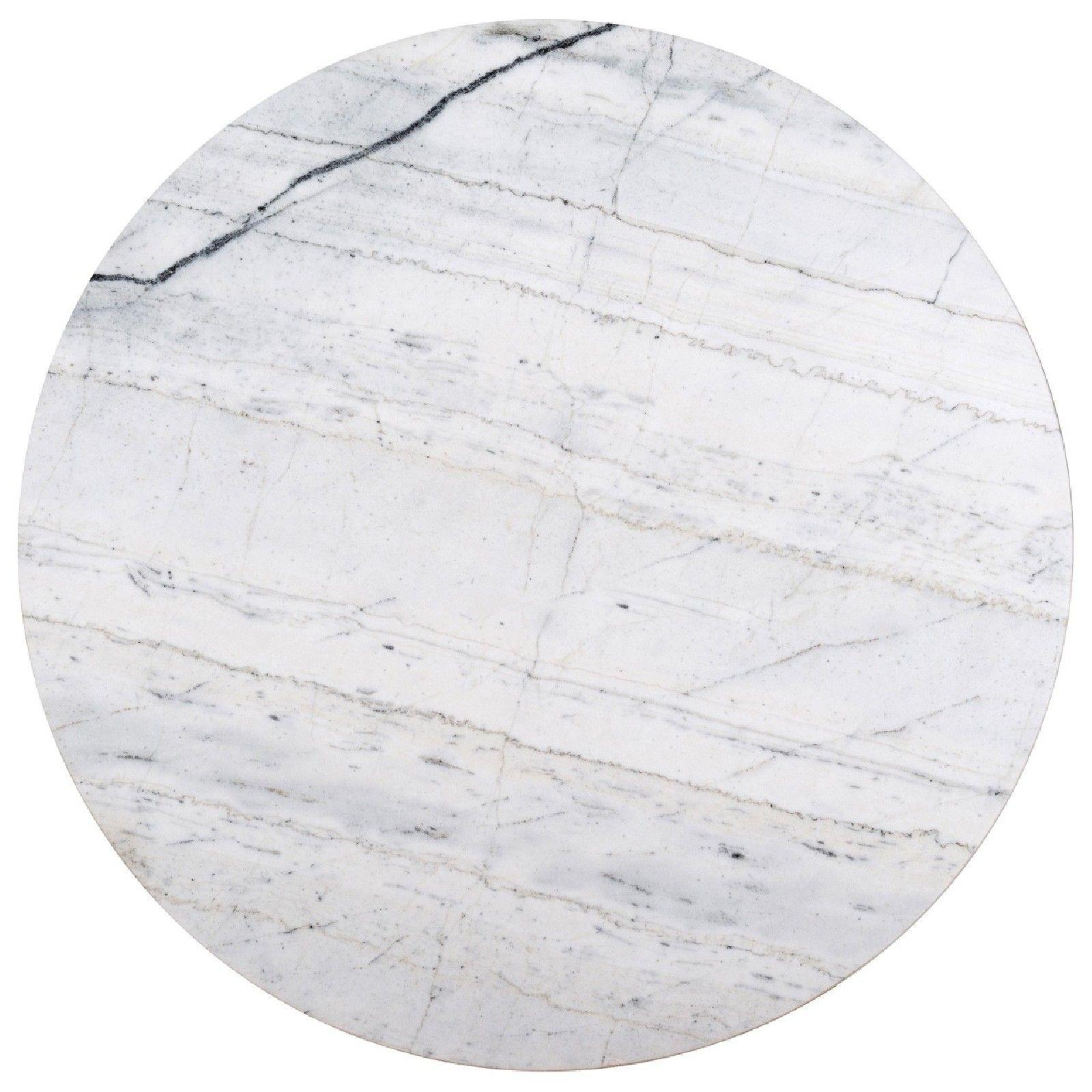 Table basse ronde 90Ø - Fer et marbre blanc