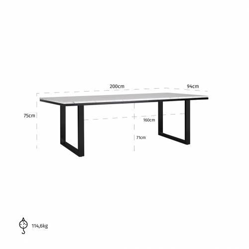 Table à dîner Lexington white 200x94 Meuble Déco Tendance - 776