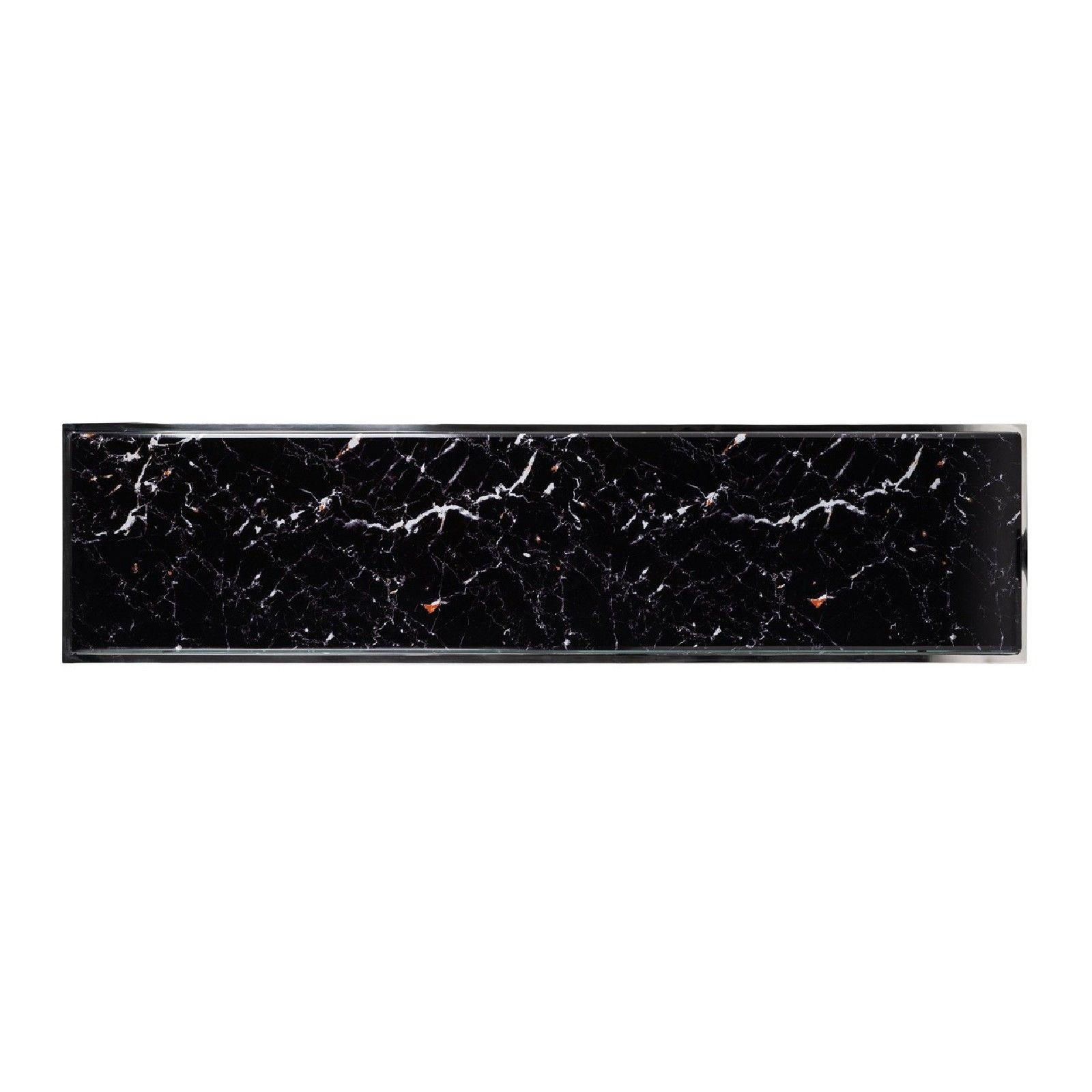 Console Dante avec look marbre noir Meuble Déco Tendance - 805