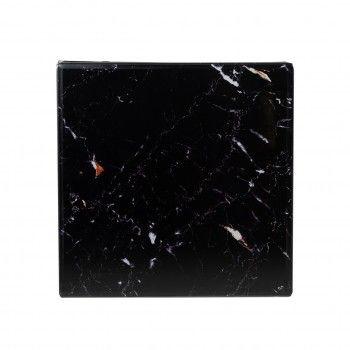 Table d'angle Dante avec look marbre noir Meuble Déco Tendance - 800